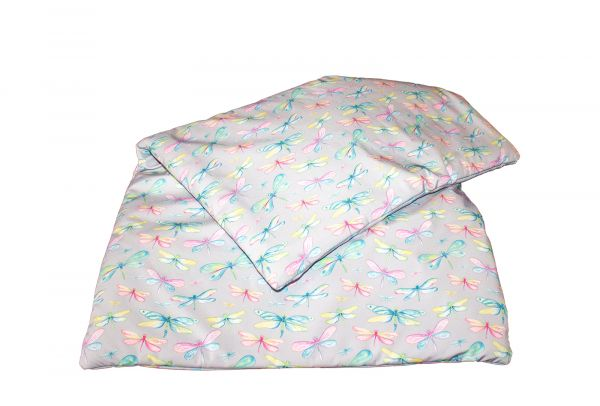 softshell blanket dragonflies pink