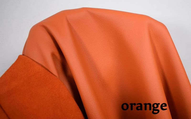 Rindsnappaleder orange