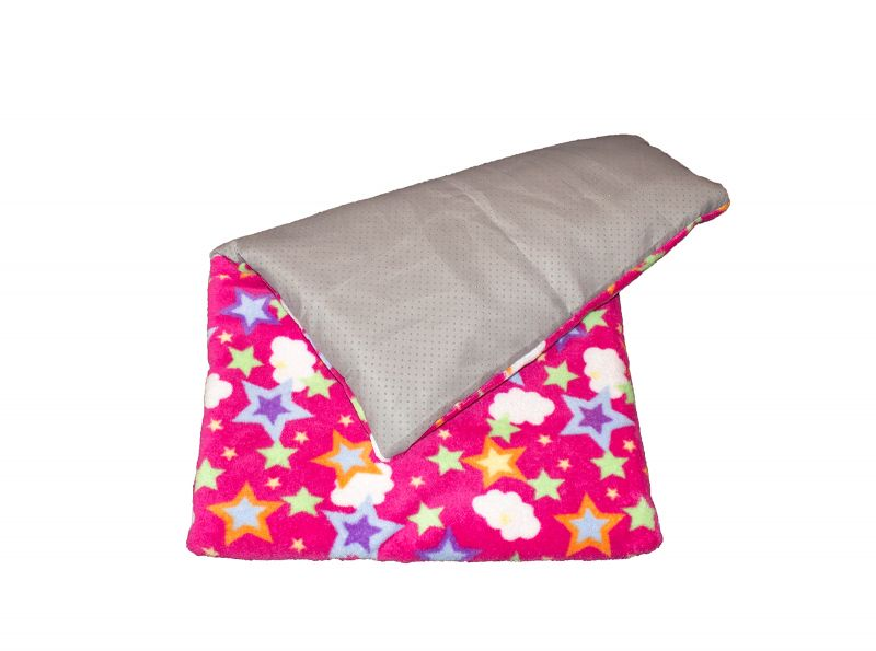 Fleece blanket anti slippering stars and clouds pink
