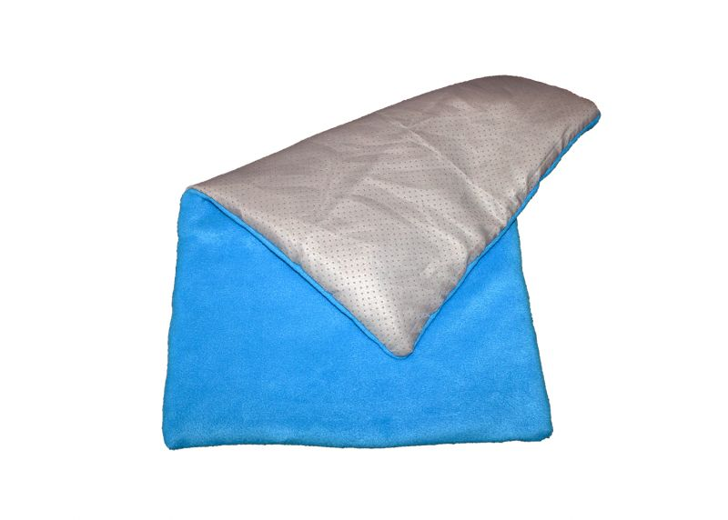 Fleece blanket anti slippering turquoise